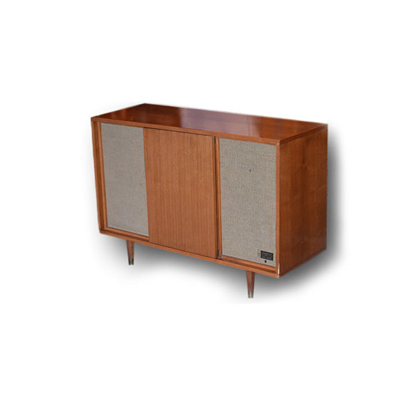Vintage Zenith Mid Century Turntable Stereo Console