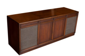 Beautiful Walnut Finished Mid-Century Modern Stereo Record Console