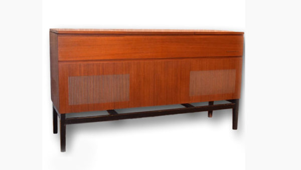 Vintage Audiophile Mid Century Modern Repurposed Stereo Console