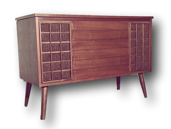 Madmen style Zenith Mid-Century Modern Stereo Console