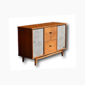 Fisher Mid Century Turntable Stereo Console with All New Modern Upgraded Electronics, Speakers, Turntable